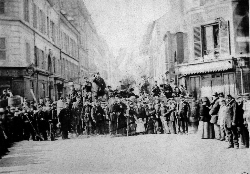 Barricade de la rue Saint-Sébastien, Commune de Paris.